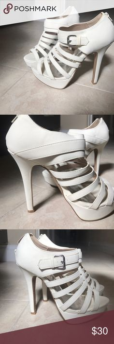 Shi by Journey cream colored heels Worn only once and in great shape! A fabulous off white shoe Shi by JOURNEYS Shoes Heels