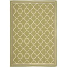 @Overstock.com - Poolside Green/ Beige Indoor Outdoor Rug (9' x 12') - This green and beige indoor outdoor rug has a versatility that makes it perfect for any home. With its strong resistance to water, mildew, and an assortment of other elements, this rug fits well in the backyard, patio, deck, or even near the pool.   http://www.overstock.com/Home-Garden/Poolside-Green-Beige-Indoor-Outdoor-Rug-9-x-12/6595296/product.html?CID=214117 $233.74