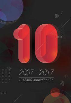 [Artwork] 에이전시 10주년 엽서디자인 - 그래픽 디자인 · 일러스트레이션, 그래픽 디자인, 일러스트레이션, 그래픽 디자인, 디지털 아트