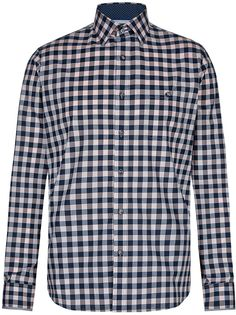 Autograph 2in Longer Supima Cotton Tailored Fit Checked Shirt £25 37% OFF!