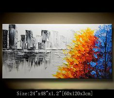 A new type of Abstract Wall Painting This painting is definitely a great gift.Its also Perfect choice for home and office decorations. Medium: Acrylic on gallery-wrapped stretched canvas, palette knife The painting will be painted with a palette knife and will be ready to hang. The