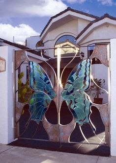 Butterfly gate.... OMW OMW OMW!!!! I NEED this gorgeous entry gate or put it on a door!!!!!!!!!!!!!!!!!!!!!!!!!!!!!!!!!!!!!!!!!