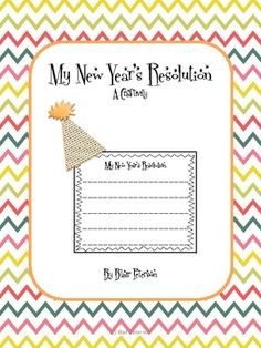 Happy New Year!!!  To celebrate, I created this freebie craftivity.  Students will make a New Year's party hat.  I included 3 different versions of the hat so you can choose which one you like the best!  One is blank so you can copy onto white construction paper and let the students decorate it however they want.