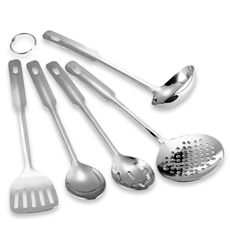 Stainless Steel 5-Piece Utensil Set - Bed Bath & Beyond $20