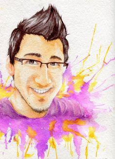 Markiplier: Watercolor by OtakuSan297.deviantart.com on @deviantART