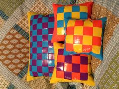 Duck tape pillows!  So cool