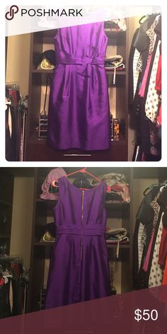 Kate Spade Dress Purple silk dress.  Excellent condition. kate spade Dresses