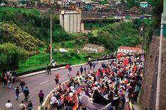 Marcha entrando a Quito desde el Sur. 22 marzo