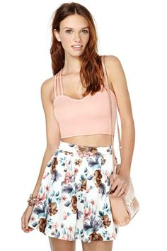 Not That Innocent Crop Tank - Peach