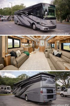 If you're thinking about getting a new look no further than the Tiffin Phaeton. You'll feel comfortable while exploring the great outdoors in this luxurious Stop by Lazydays and see this model, today! Luxury Campers, Luxury Motorhomes, Rv Campers, Travel Trailers For Sale, Rv Trailers, Luxury Rv Living, Motor Homes For Sale, Tiffin Phaeton, Luxury Family Holidays