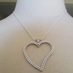 Collier pendentif argent coeur