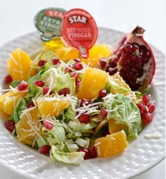 pomegranate citrus brussels sprout salad # starfinefoods more brussels ...