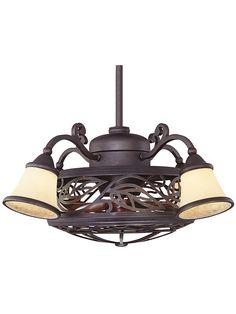 Un love with these vintage style ceiling fans!  Bay St. Louis Fan D'lier In Antique Copper | House of Antique Hardware