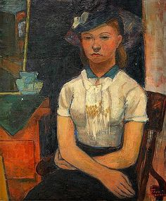 Maid, 1938 by Tove Jansson on Curiator, the world's biggest collaborative art collection. Tove Jansson, Female Painters, Magic Women, Digital Museum, Collaborative Art, Scandinavian Modern, Female Portrait, Figurative Art, Finland