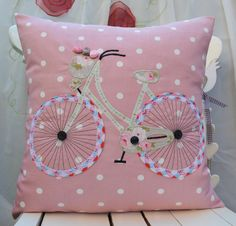 Bicycle Pillow/Bicycle Cushion cover/Cath Kidston by FullColour