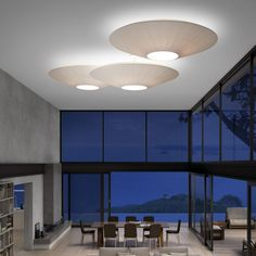 Printing Videos Architecture Home Ceiling Light Design, Semi Flush Ceiling Lights, Flush Lighting, Lighting Design, Beautiful Living Rooms, Beautiful Homes, Italia Design, Home Ceiling, Architecture Design
