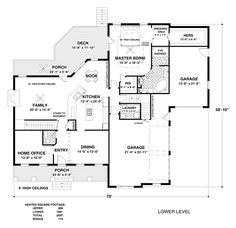 First Floor Plan Of Craftsman House Plan 92391