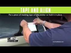 Installing a small Cut Out Decal with Car Stickers - YouTube