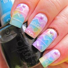 It's all about the polish: Easter Water Colour Nail Art with OPI Sheer Tints