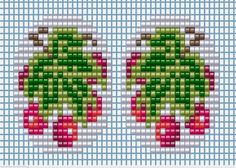 Schemes for embroidery colors miniatures - Flowers - weaving schemes beads - Treasury papers - Weave Beaded ornaments, trees and flowers, circuits u Small Cross Stitch, Beaded Cross Stitch, Cross Stitch Flowers, Cross Stitch Charts, Cross Stitch Patterns, Bead Loom Patterns, Beading Patterns, Beaded Embroidery, Embroidery Stitches