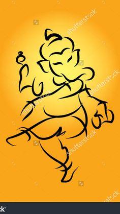 Ganesha Painting, Ganesha Art, Lord Ganesha, Lord Krishna, Pen Sketch, Sketches, Happy Ganesh Chaturthi Images, Ganesh Tattoo, Shiva Art