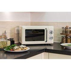 Small Microwave Oven Compact Cream Kitchen Countertop Caravan Cooking Liances