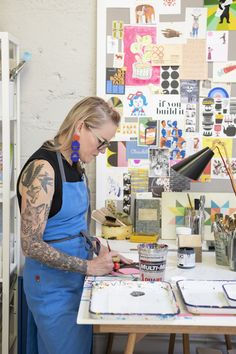 Artist Lisa Congdon On Finding Her Passion and Business At Age 40 | Glitter Guide | studio tour