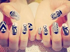 Egyptian-themed #nails by NCLA.