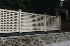 Custom Vinyl Fence Manufacturer Of ForeverVinyl Fencing Companies, Lattice Fence, Front Yard Fence, 1 Place, Custom Vinyl, Fences, New England, Backyard, Outdoor Structures