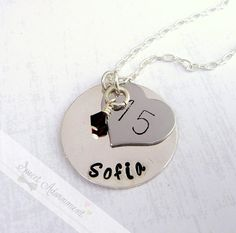Hey, I found this really awesome Etsy listing at https://www.etsy.com/listing/155343412/quinceanera-necklace-hand-stamped