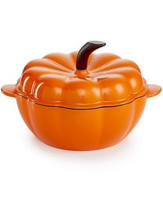 Martha Stewart Collection Enameled Cast Iron 2-Qt. Pumpkin Casserole,  Created for Macy's - Cookware & Cookware Sets - Kitchen - Macy's