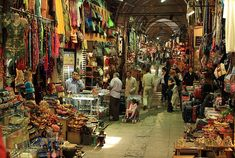 The Grand Bazaar - opened in 1461. It is well known for its jewelry, pottery, spice, and carpet shops.     Today, the sprawling complex consists of 12 major buildings and has 22 doors.