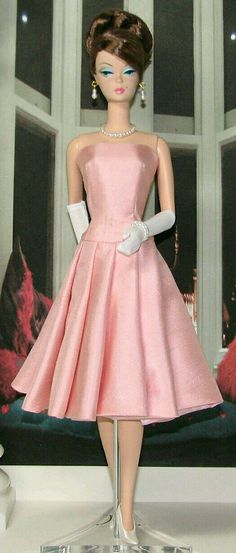 Pink Satin frock for Silkstone BArbie Doll