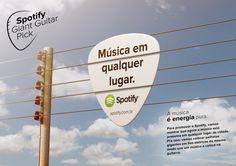 Ação para Spotify - Conceito Música em qualquer lugar on Behance