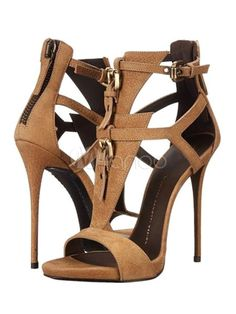 39fd39b5e Brown Gladiator Sandals High Heel Open Toe Suede Plus Size Stiletto Shoes  For Women