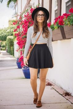 No to the hat and crop top for me, but a striped tee with a flare shirt and oxfords is very French chic. 20 Fresh And Cool Ways To Pull Off Stripes This Summer | Styleoholic