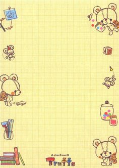 kawaii toy animal bear Memo Pad 5