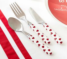 Kid's Valentine's Day Utensils - Sweet! Valentines Day