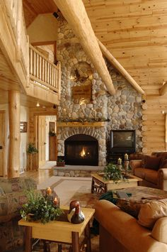 Log Cabin Homes from Golden Eagle Log and Timber Homes. Log Cabin Living, Log Cabin Homes, Log Cabins, Rustic Cabins, Cabin In The Woods, Timber House, Cabin Interiors, Mountain Homes, Cabins And Cottages