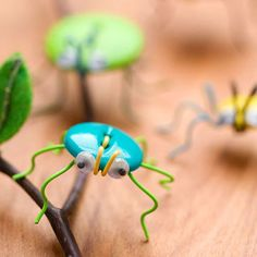 You can make these adorable bugs with just a button, wire, and some googly eyes.