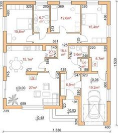 turn with living facing southwest and bring br on the right down to garage area, eliminate attached garage Modern Bungalow House, Cottage Style House Plans, Dream House Plans, Small House Plans, House Floor Plans, Bungalow Floor Plans, 4 Bedroom House Designs, Three Bedroom House Plan, Drawing House Plans