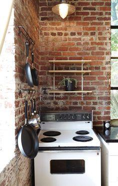 Julia's Open, Antique-Industrial Atlanta Kitchen Kitchen Tour   The Kitchn