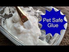 Pet Safe Glue that really works and super easy to make! Diy Guinea Pig Toys, Diy Rat Toys, Diy Hamster Toys, Diy Bunny Toys, Guinea Pigs, Hamster Stuff, Pig Stuff, Cat Toys, Rabbit Cages