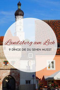 Landsberg am Lech ist eine kleine Stadt im Süden von Deutschland. In diesem Beitrag findest du 9 Sehenswürdigkeiten für einen Wochenendtrip. Le Ch, Germany Travel, Day Trips, Most Beautiful Pictures, In The Heights, Places To See, Instagram Users, New Experience, Travel Photography