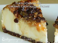 Turtle Cheesecake – Caramel Chocolate and Pecans