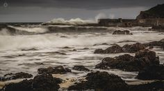 Savage Seas - A long exposure, landscape image of waves pummelling the harbour at Portknockie in Morayshire, Scotland.