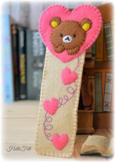 Felt Rilakkuma Bookmark, Marcapaginas FREE Sewing Pattern