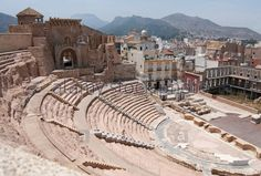 Ancient Roman theater in Cartagena, Spain. Constructed between 5 and 1 BC. Dedicated to Gaius and Lucius Caesar, grandsons of Augustus