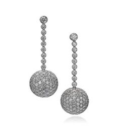 Sasha Primak Fine Jewelry - Sphere Collection 18K White Gold Drop Earrings