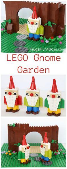 How to build a Gnome Garden out of LEGO bricks - so totally adorable.